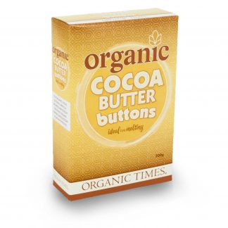 200 gram box of Organic Times Cocoa Butter
