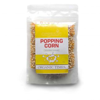 200 gram bag of Organic Times Popping Corn