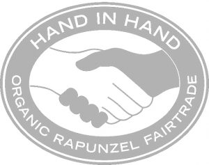 Hand in Hand Organic Rapunzel Fairtrade logo
