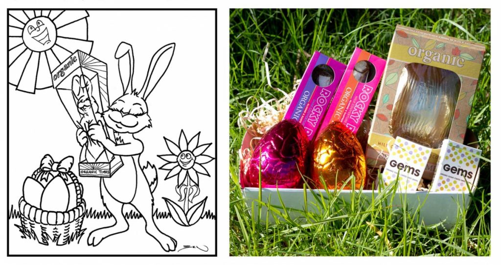 Easter Competition colouring sheet and prize