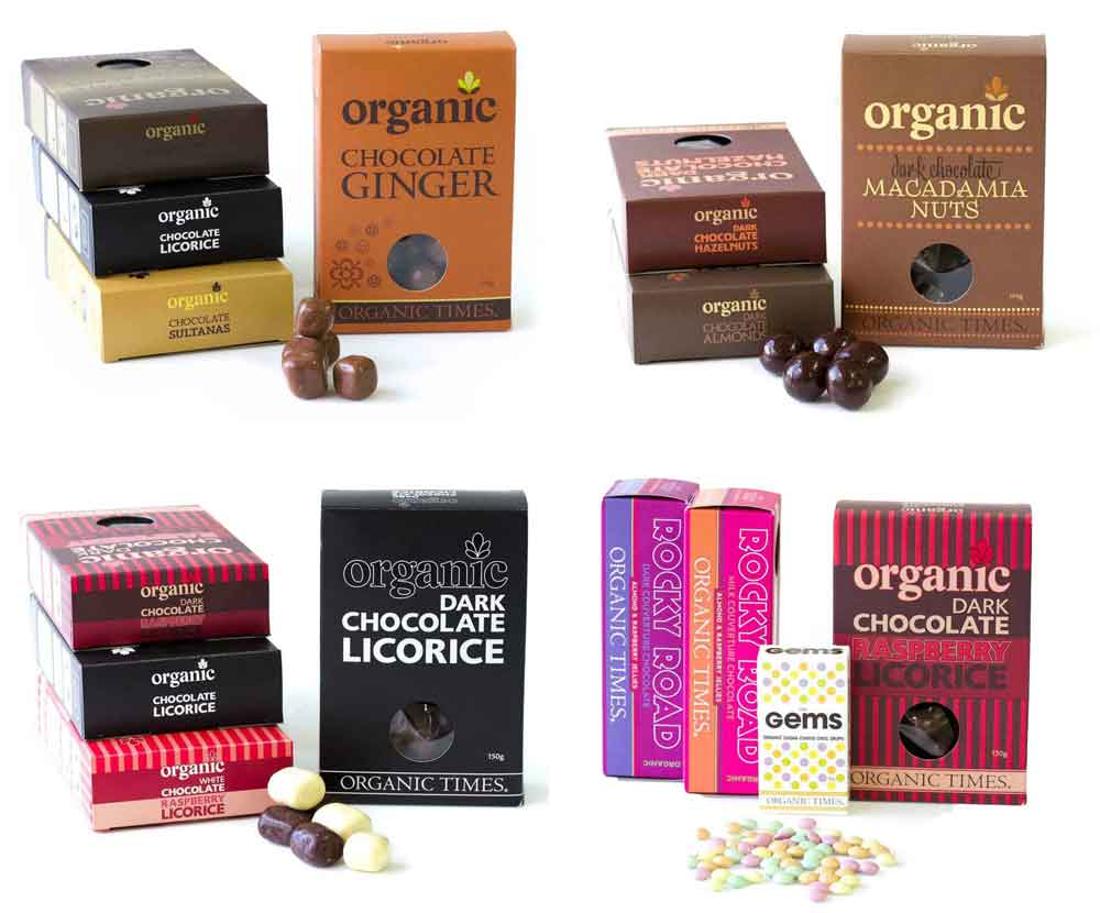 Collage of Organic Times gift sets
